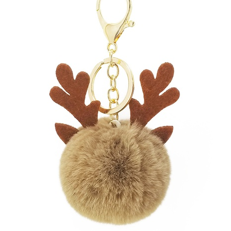 Christmas fawn fur ball keychain  NHAP297589's discount tags