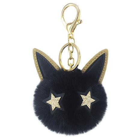 Neue niedliche PU Goldpulver Katze haarige Kugel Schlüsselbund NHAP297594's discount tags