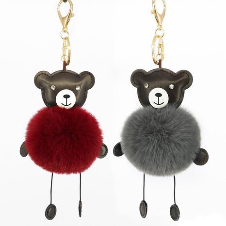 New rabbit fur ball bear keychain  NHAP297598's discount tags