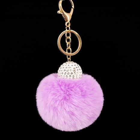 New diamond ball imitation rex rabbit fur ball keychain NHAP297601's discount tags