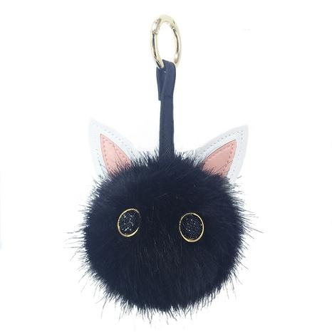 New cat ear fur ball keychain  NHAP297597's discount tags
