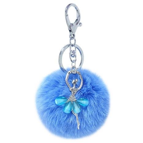 Mit Diamanten besetzter Ballettmädchen-Schlüsselbund aus Aluminium NHAP297606's discount tags