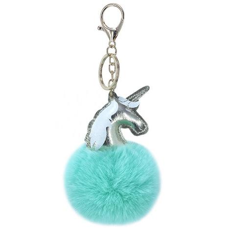 8CM Rex Rabbit Fur Ball PU Einhorn Schlüsselbund NHAP297612's discount tags