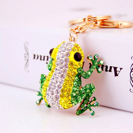 creative new cute color diamond big eye frog keychain  NHAK297634's discount tags