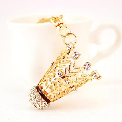Creative diamond badminton car keychain  NHAK297637's discount tags