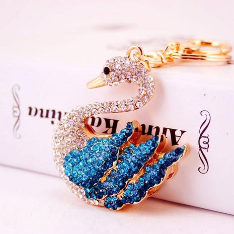 Porte-clés mignon cygne serti de diamants NHAK297640's discount tags