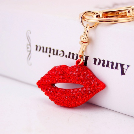 Creative sexy cute red lips metal key chain NHAK297641's discount tags
