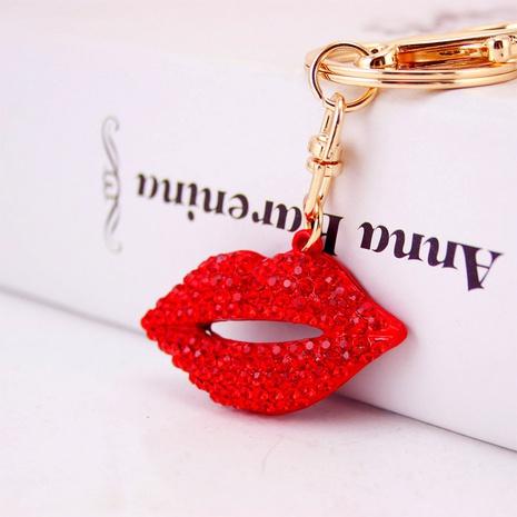 Kreative sexy süße rote Lippen Metall Schlüsselanhänger NHAK297641's discount tags