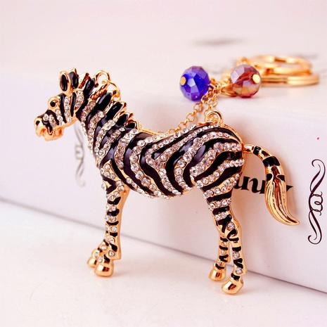 Striped Zebra Keychain  NHAK297642's discount tags