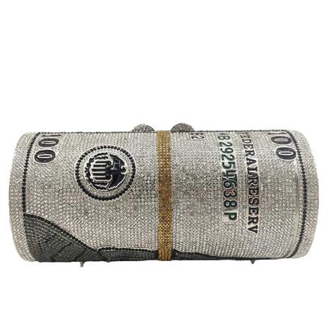 metal diamond dollar pattern banquet bag NHJU297646's discount tags