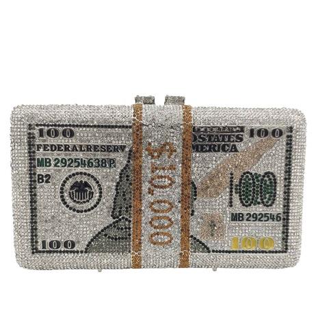 metal diamond dollar pattern banquet bag NHJU297651's discount tags