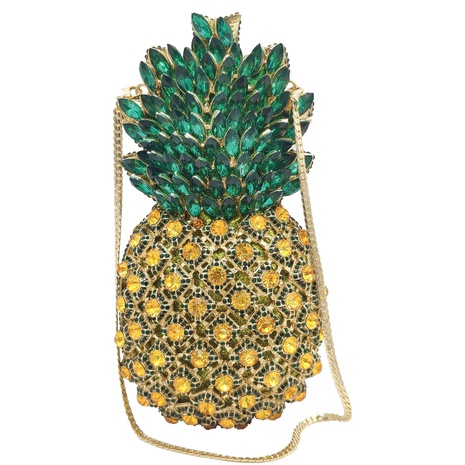 metal diamond-studded pineapple banquet bag NHJU297654's discount tags