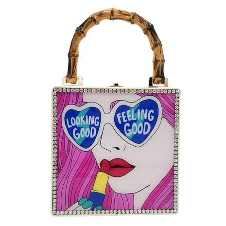 box stitching small square handbag NHJU297655's discount tags