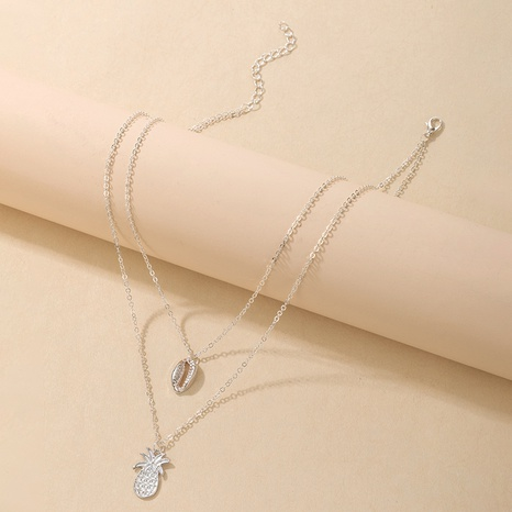 Shell Pendant Double-layer Adjustable Clavicle Chain Necklace NHGY297909's discount tags