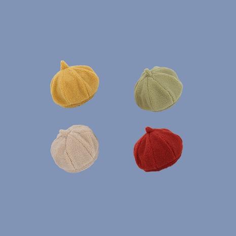 Teddy fleece pumpkin nuevo color puro salvaje Corea octogonal boina para damas NHTQ242421's discount tags