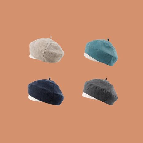 Sombrero de pintor de sombrero de calabaza retro británico boina octogonal para mujer NHTQ242407's discount tags