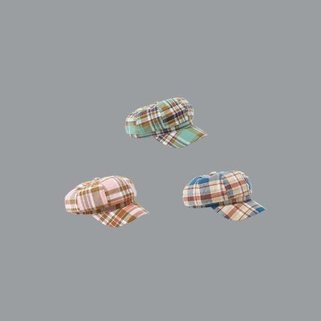 fashion retro plaid painter cap octagonal new fashion hat beret for women  NHTQ242400's discount tags