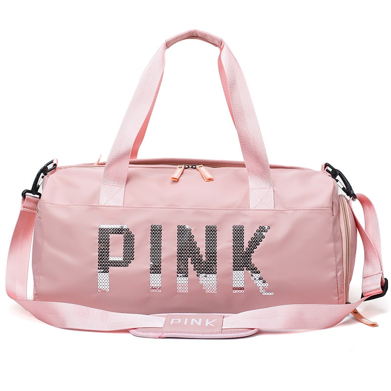 PINK large capacity dry and wet separation travel bag  NHAV297462