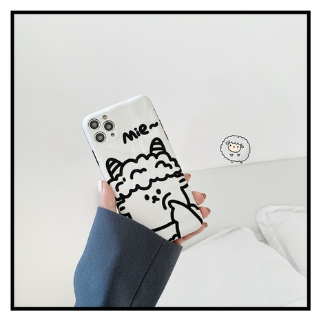 Korean cute cartoon line lamb 12mini11pro mobile phone case for Apple 8plusXRse2X NHFI297204's discount tags