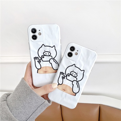 Funny selfie line belly pig 12mini11pro mobile phone case for Apple 8plusXRse2XS NHFI297203's discount tags