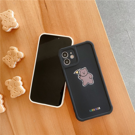 cartoon silicone bear mobile phone case for Apple 8P se2 XR 12mini11pro NHFI297142's discount tags