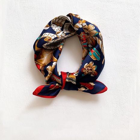 petit foulard carré en soie de mûrier NHCJ297211's discount tags