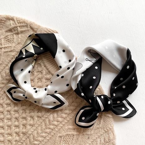 petit foulard carré en soie de mûrier NHCJ297213's discount tags