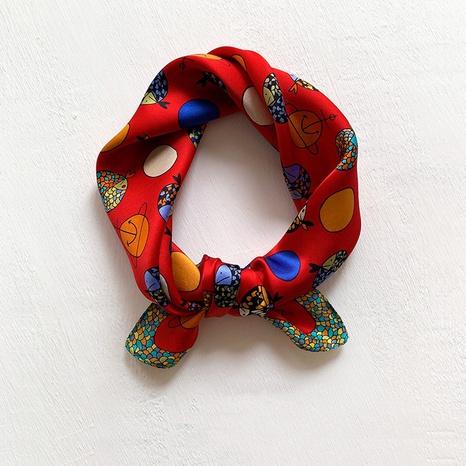 petit foulard carré en soie de mûrier NHCJ297214's discount tags