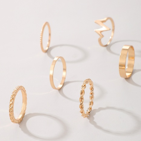 Lightning alloy ring joint twist rings set NHGY297898's discount tags