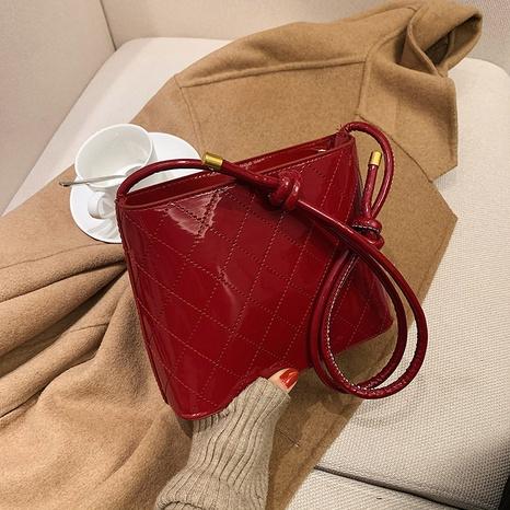 fashion rhombus shoulder messenger bag NHEX297713's discount tags