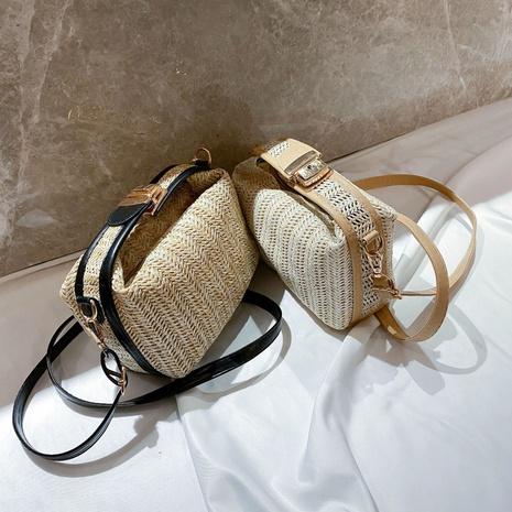 straw woven messenger bag NHRU297854's discount tags