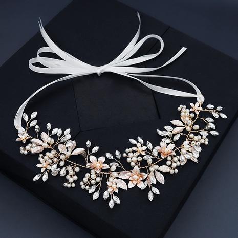 Coiffe de perle coréenne à la main fleur bandeau de mariage mariée NHHS297977's discount tags