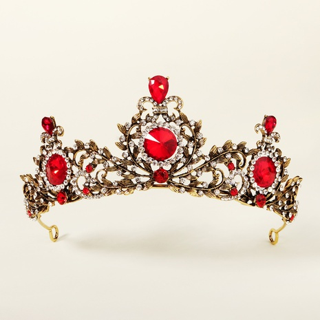 Retro ruby alloy crown Christmas party headdress wedding dress accessories bridal crown NHHS297978's discount tags