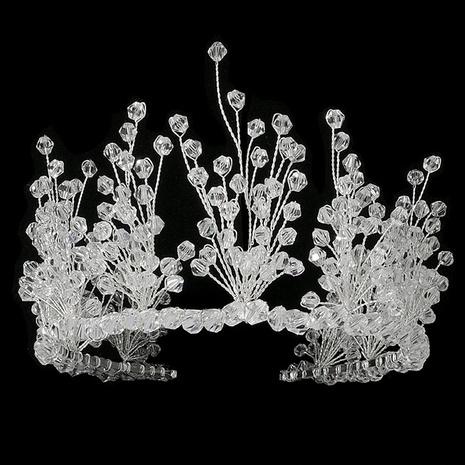 Coiffe de mariage bandeau en cristal tissé lourd accessoires de voile de mariée NHHS297989's discount tags