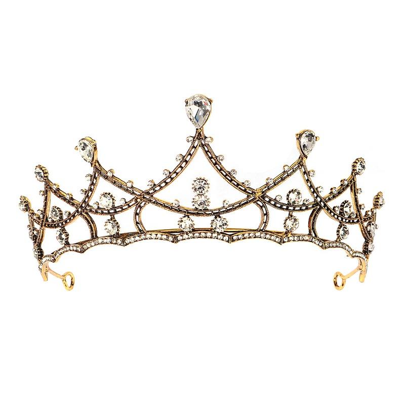 Bridal wedding headdress baroque retro alloy crown hair accessories NHHS297990