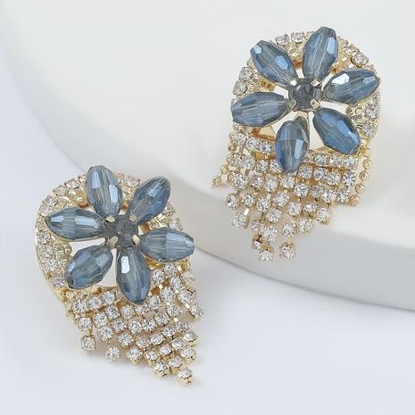 Mode-Legierung Diamant Acryl Blumen Quaste Ohrringe NHJE298024's discount tags