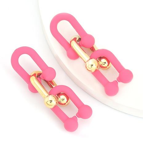 Mode mehrschichtige Harz geometrische Ohrringe NHJE298029's discount tags