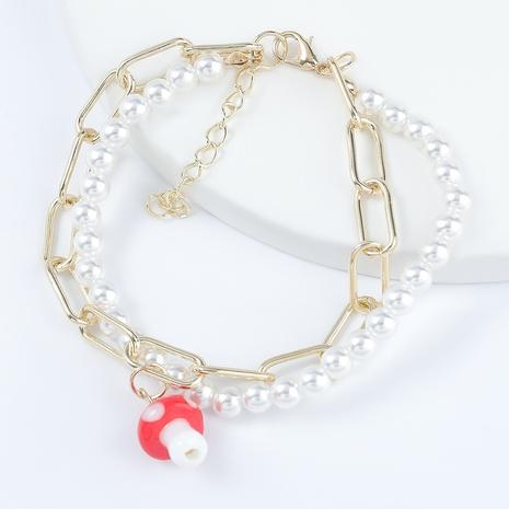 Mode Legierung Nachahmung Perle Pilz Armband NHJE298030's discount tags