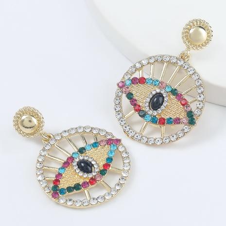 Diamantbesetzte runde Acrylohrringe aus modischer Legierung NHJE298042's discount tags