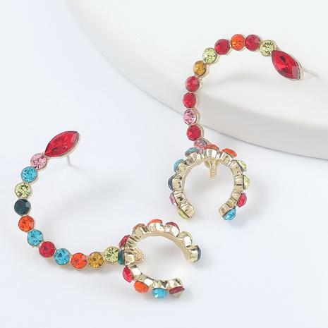 Fashion Legierung Diamant Acryl Skorpion Schwanz Ohrringe NHJE298043's discount tags