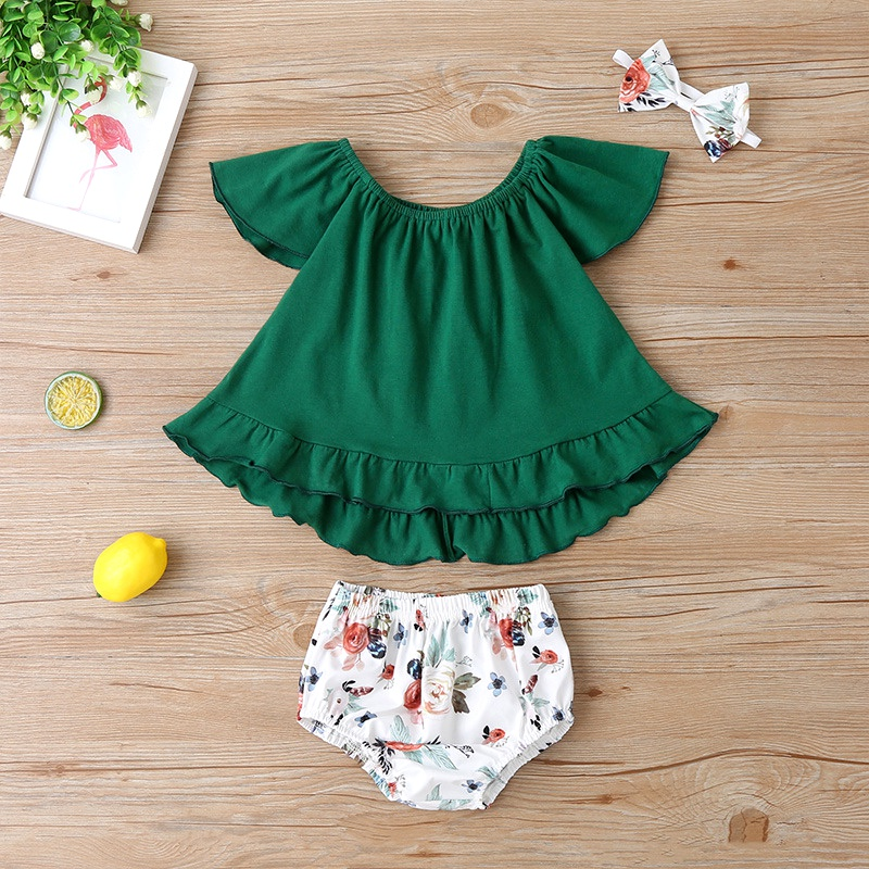 printing fashion baby clothes twopiece suit  NHLF290219
