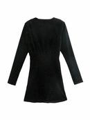 beaded velvet Vneck dress NHAM290252