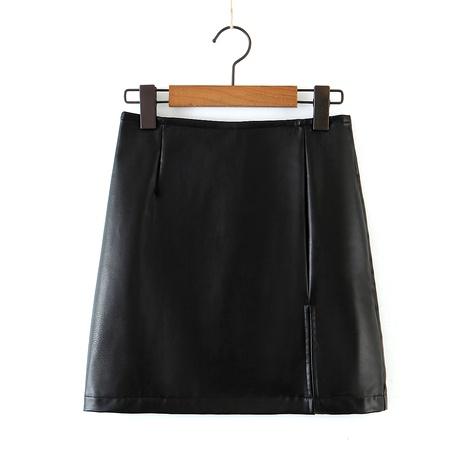 falda de cuero de cintura alta NHAM290254's discount tags