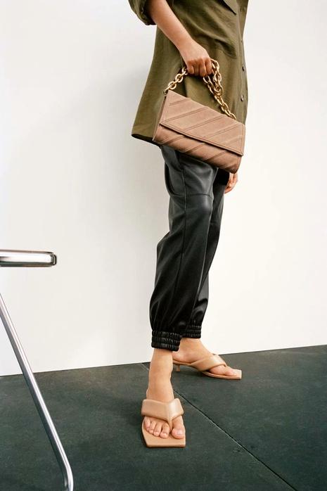 straight high waist casual imitation leather pants  NHAM290276's discount tags