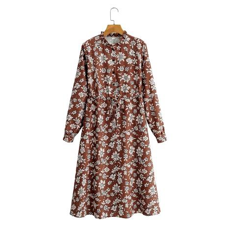 vestido estampado de manga larga NHAM290283's discount tags
