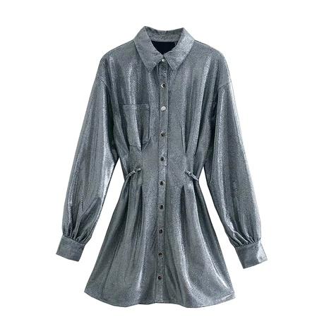 vestido de cintura brillante estilo camisa NHAM290285's discount tags