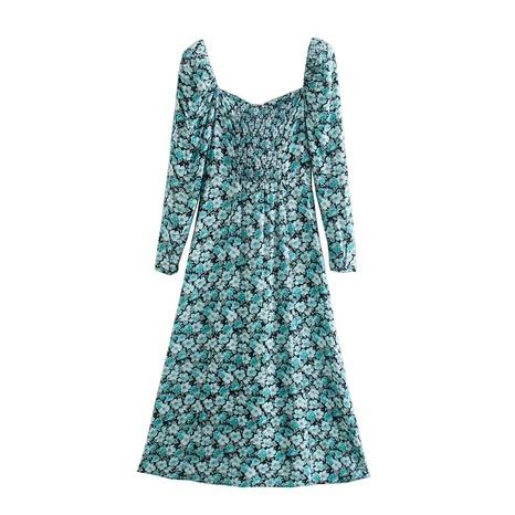 vestido retro con mangas abullonadas y estampado floral NHAM290287's discount tags
