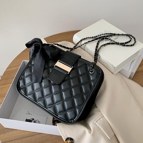 bolso de hombro sencillo con rombos bordados NHRU290441's discount tags