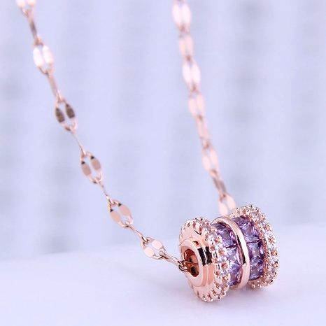 Korean fashion sweet OL simple zircon necklace NHSC290832's discount tags