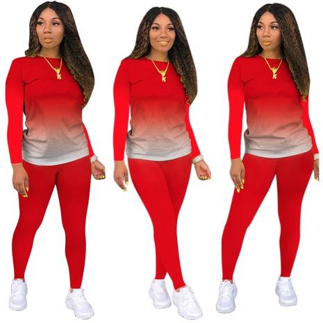 nuevo gradiente de manga larga pantalones suéter traje deportivo casual NHIS299764's discount tags